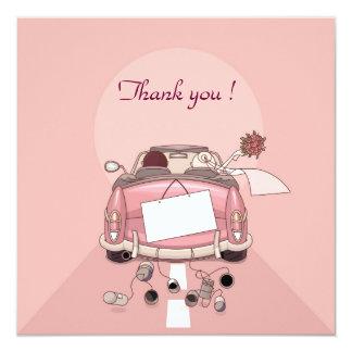 coche del boda del remerciement invitación 13,3 cm x 13,3cm