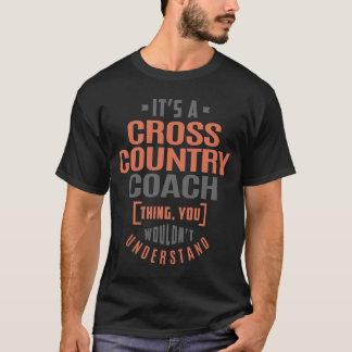 Coche del campo a través camiseta