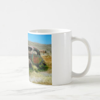 Coche del cementerio taza de café