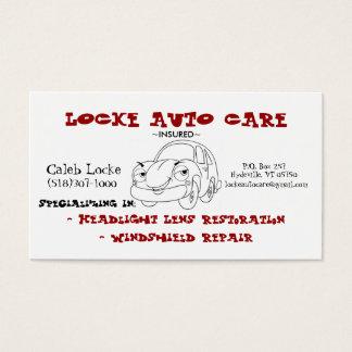 coche del dibujo animado tarjeta de visita