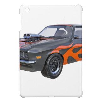 coche del músculo de los años 70 con la llama