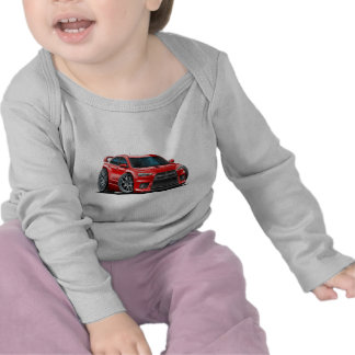 Coche del rojo de Mitsubishi Evo Camisetas
