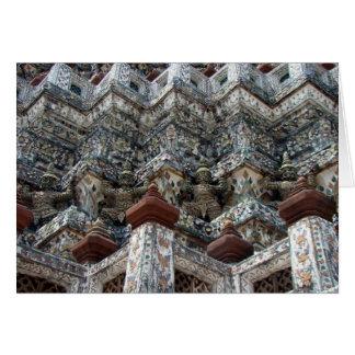 Coche del saludo de Wat Arun Tarjeta De Felicitación