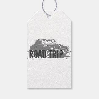 Coche del vintage del viaje por carretera etiquetas para regalos