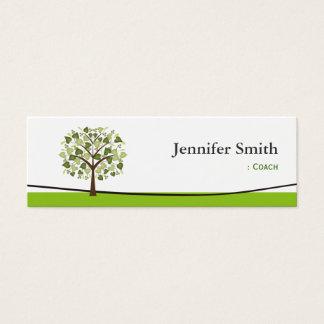 Coche - desear el árbol de corazones tarjeta de visita pequeña