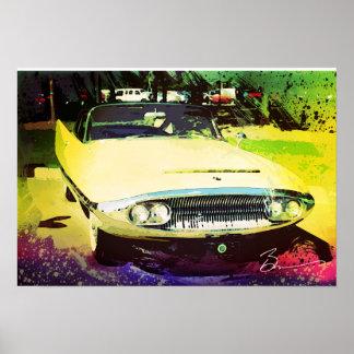 Coche dual del concepto de 1958 Ghia Poster
