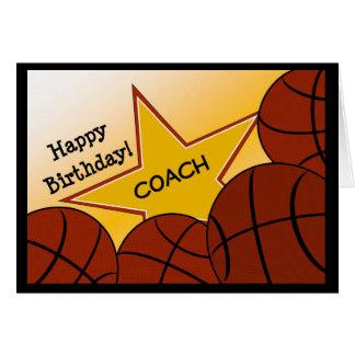 Coche - entrenador de béisbol del feliz cumpleaños tarjeta de felicitación