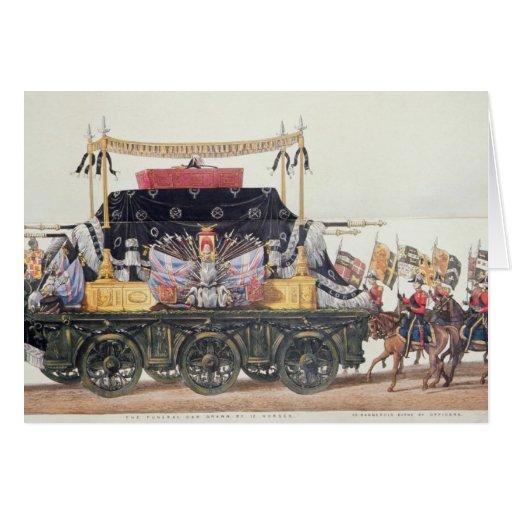 Coche fúnebre del duque de Wellington, 1853 Tarjeta