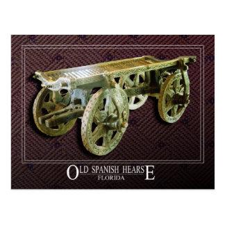 Coche fúnebre español viejo tarjeta postal