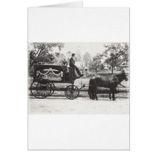 Coche fúnebre tarjeta de felicitación