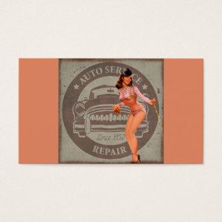 Coche modelo tarjeta de negocios