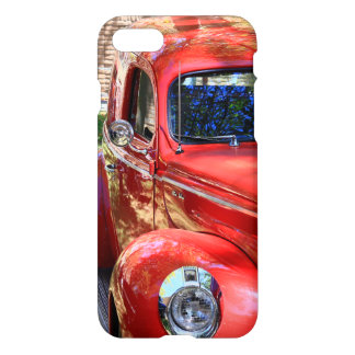 Coche rojo clásico funda para iPhone 7