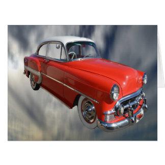 Coche rojo con clase de la obra clásica 60S, Tarjeta De Felicitación Grande
