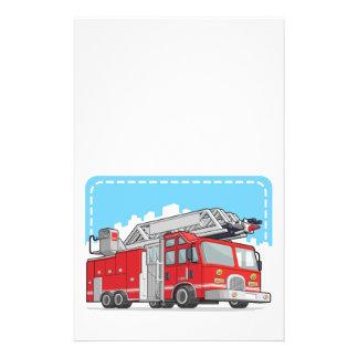 Coche rojo del coche de bomberos o de bomberos tarjetón