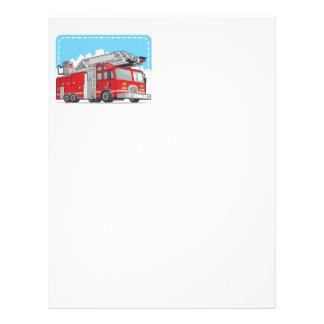 Coche rojo del coche de bomberos o de bomberos folleto 21,6 x 28 cm