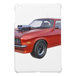 coche rojo del músculo de los años 70