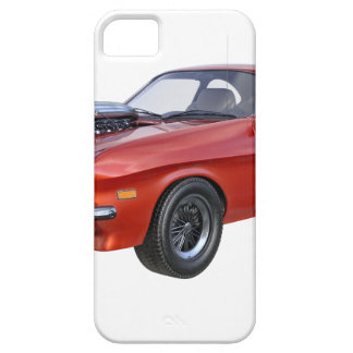 coche rojo del músculo de los años 70 funda para iPhone SE/5/5s