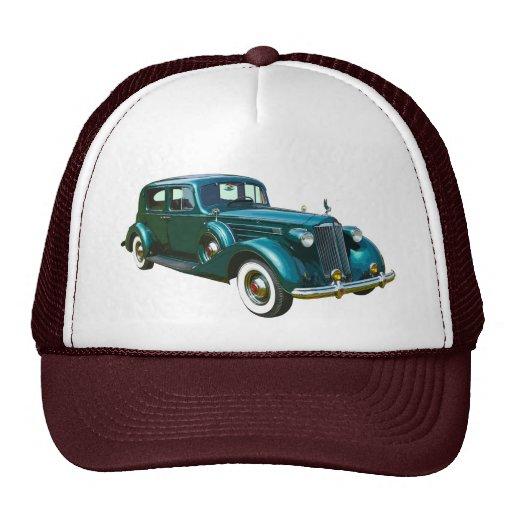 Coche verde del lujo de Packard Gorro De Camionero