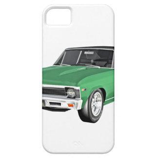 Coche verde del músculo 1968 funda para iPhone SE/5/5s
