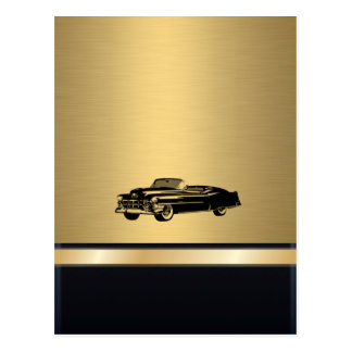 coche viejo con clase del vintage de oro de lujo p postal