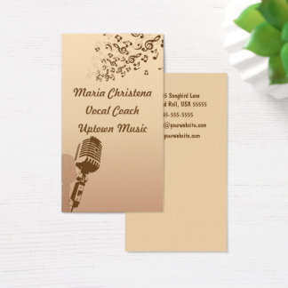 Coche vocal, cantante, tarjeta de visita del