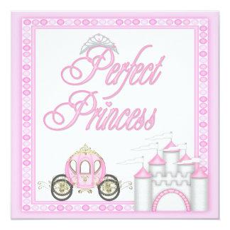 Coche y castillo perfectos de la princesa fiesta invitación 13,3 cm x 13,3cm