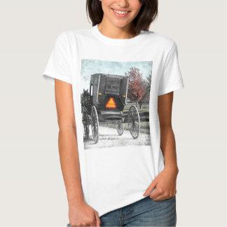 Cochecillo de Amish del otoño Camiseta