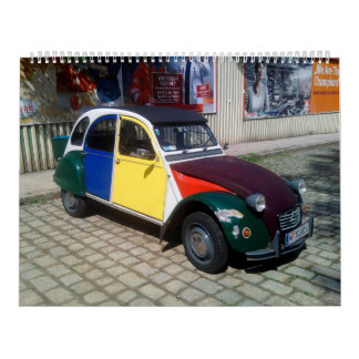 Coches clásicos 2017 de Citroen 2CV Calendarios De Pared