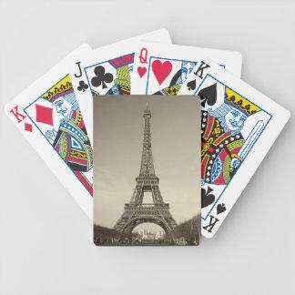 Coches de la torre Eiffel Baraja De Cartas Bicycle