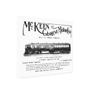 Coches de motor de la gasolina de McKeen 1911 Impresión En Lienzo