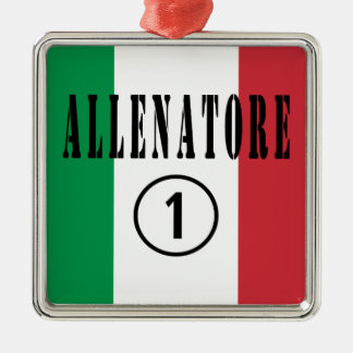 Coches italianos: Uno de Allenatore Numero Adorno Cuadrado Plateado
