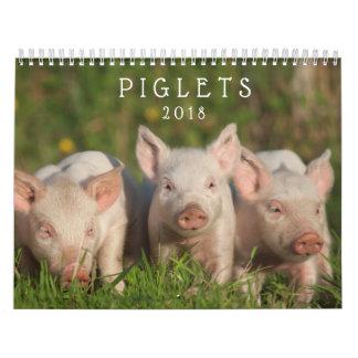 Cochinillos dulces 2018 - calendario de pared de