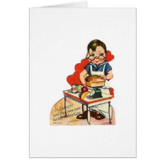 Cocido con amor tarjeta de felicitación