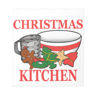 cocina del navidad bloc de notas