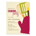 Cocina elegante que cocina invitaciones del fiesta comunicado personalizado