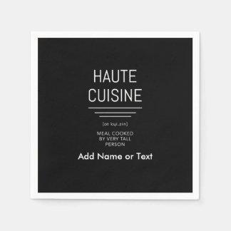 Cocina francesa divertida de Haute del cocinero Servilletas De Papel