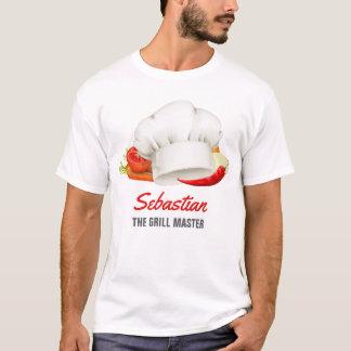 Cocina personalizada Grill Master del cocinero de Camiseta