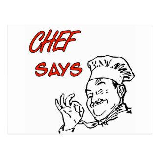 Cocinando al cocinero divertido postales