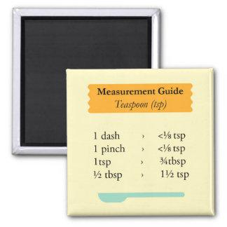 Cocinar la guía de la medida imán cuadrado