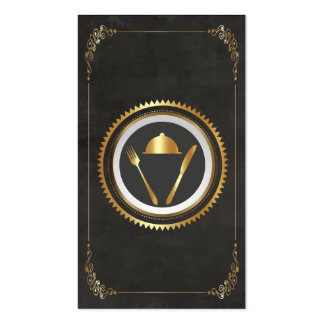 Cocinero, abasteciendo el oro de la tarjeta de tarjetas de visita