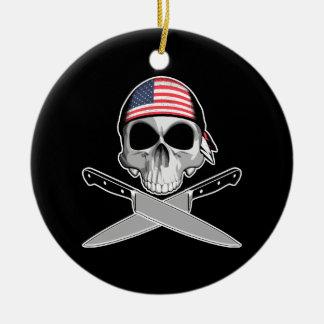 Cocinero americano ornamentos de navidad