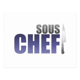 Cocinero azul de Sous Postales