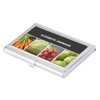 Cocinero colorido fresco del nutricionista de las caja de tarjetas de negocios