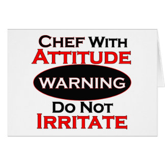 Cocinero con actitud tarjeta de felicitación