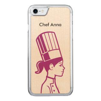 Cocinero culinario del decorador de la torta del funda para iPhone 8/7 de carved