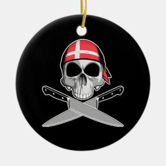 Cocinero danés ornaments para arbol de navidad