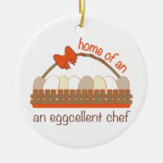 Cocinero de Eggcellent Adorno Redondo De Cerámica