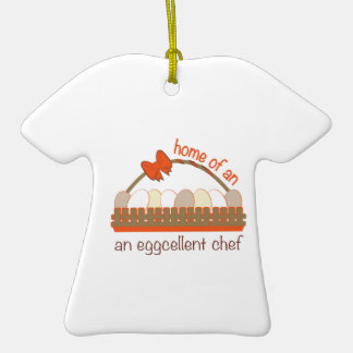 Cocinero de Eggcellent Adorno De Cerámica En Forma De Camiseta