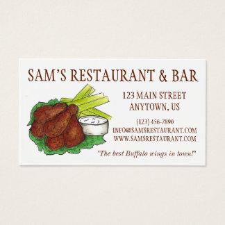 Cocinero de la comida de la barra del restaurante tarjeta de negocios