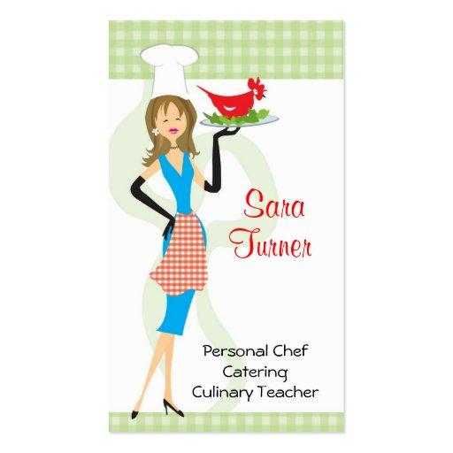 Cocinero de la comida que cocina la tarjeta de vis plantilla de tarjeta de negocio